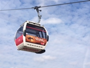 A view of a car on the Emirates Air Line